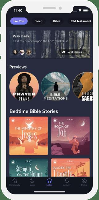 Pray.com app premium audio